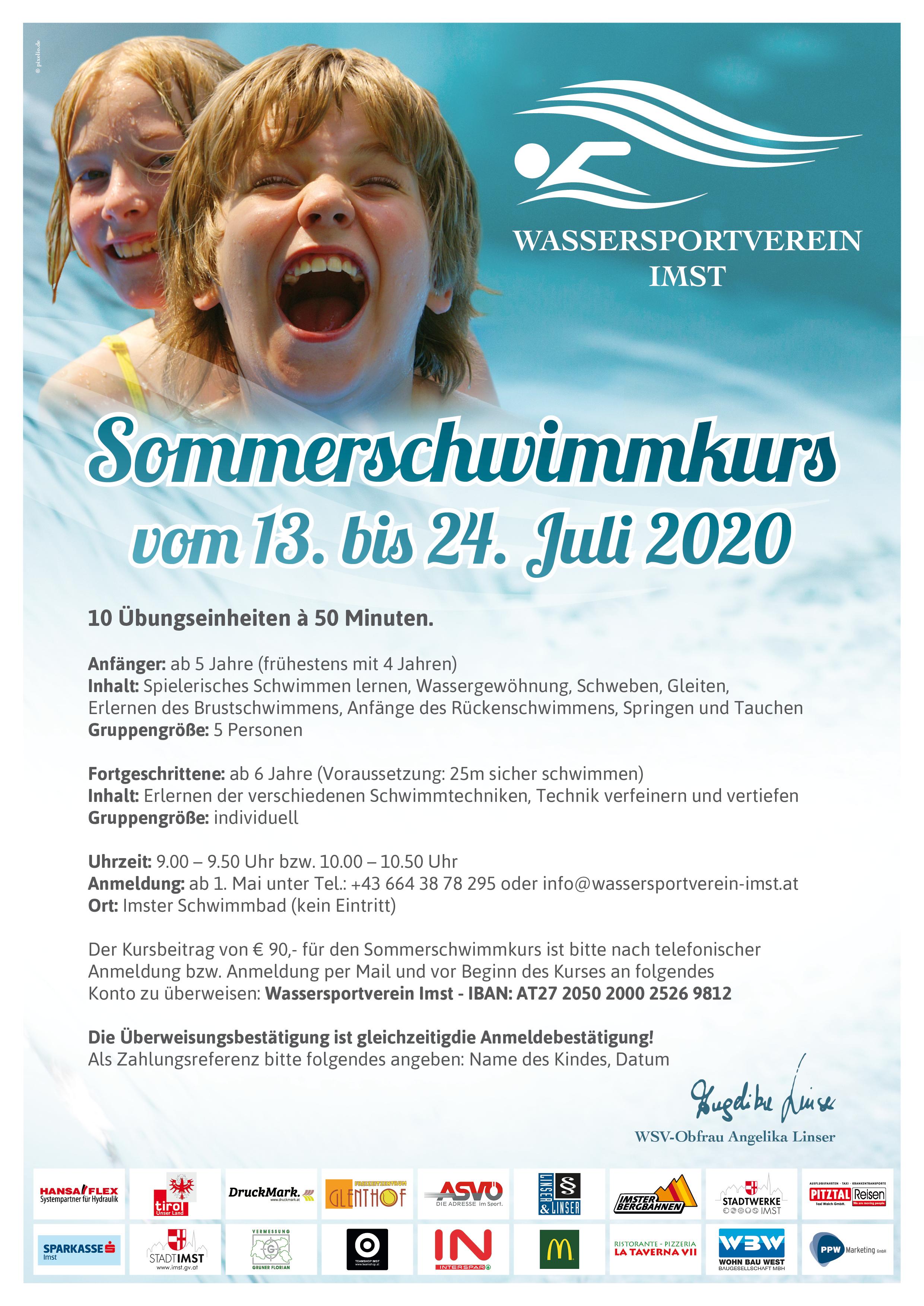 Großer Sommerschwimmkurs In Den Ersten Beiden Ferienwochen