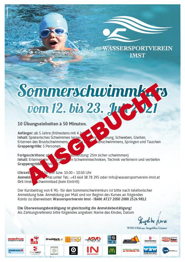 Großer Sommerschwimmkurs In Den Ersten Beiden Ferienwochen!