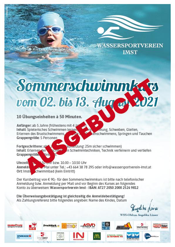 Großer Sommerschwimmkurs Vom 02. – 13. August 2021