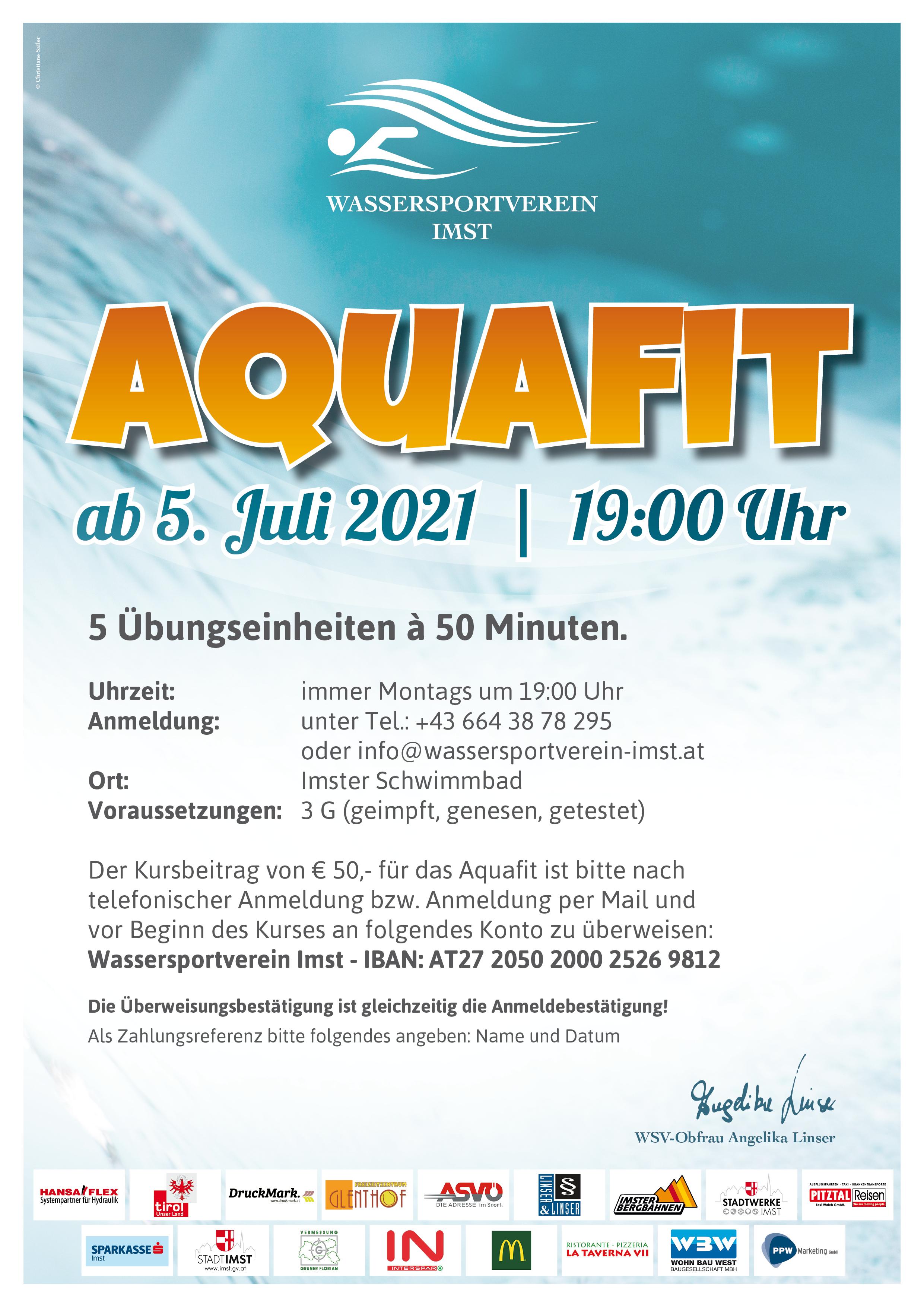 AQUAFIT Ab 5. Juli 2021  |  19:00 Uhr