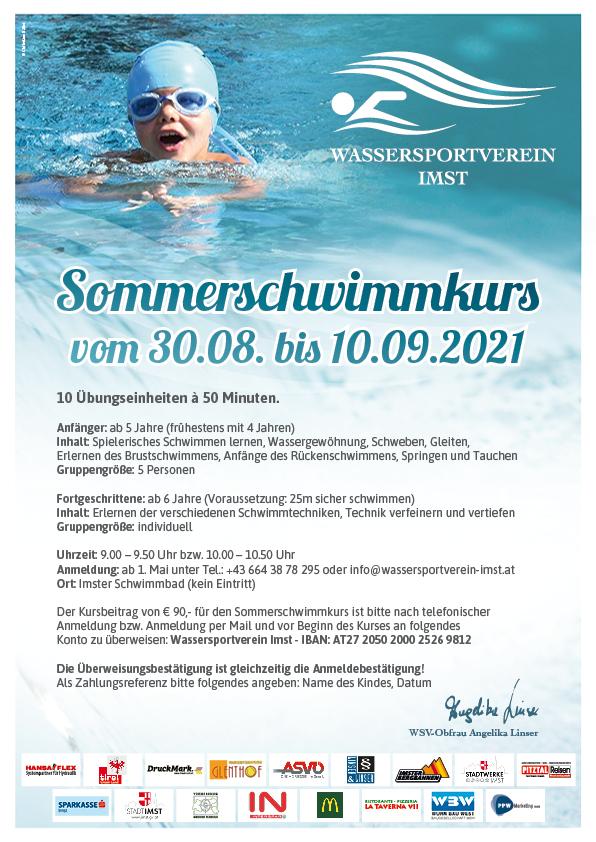 Großer Sommerschwimmkurs Vom 30.08. – 10.09.2021